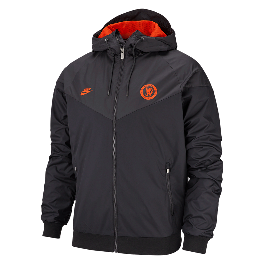 Nike Chelsea FC Fanjacke Windrunner Authentic Woven Webjacke CL schwarz/orange Bild 2