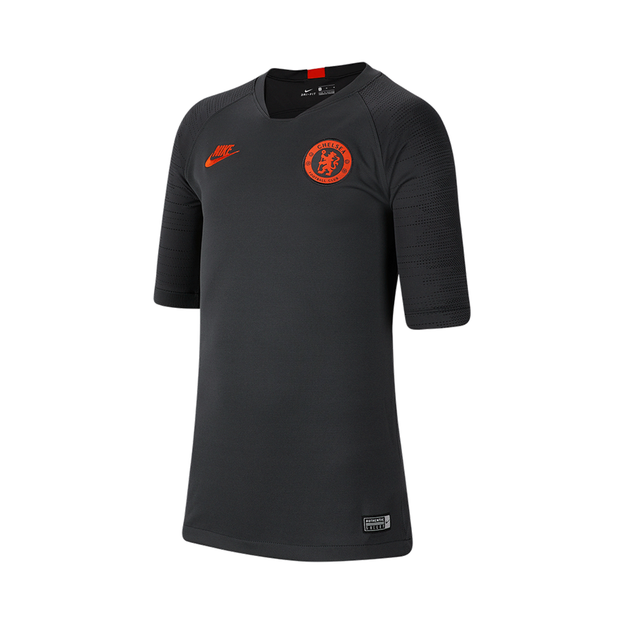 Nike Chelsea FC Kinder Trainingsshirt Breathe Strike Top anthrazit/orange Bild 2