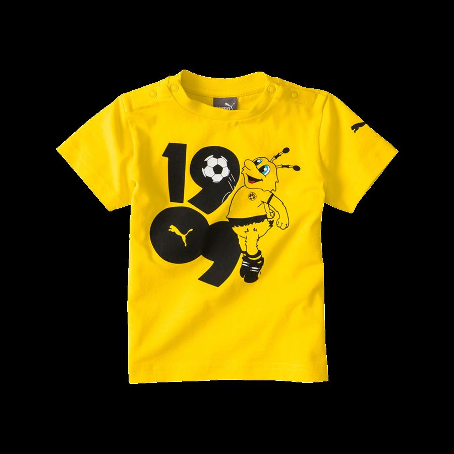 Puma BVB Kleinkinder Shirt Minicats Graphic Tee gelbschwarz