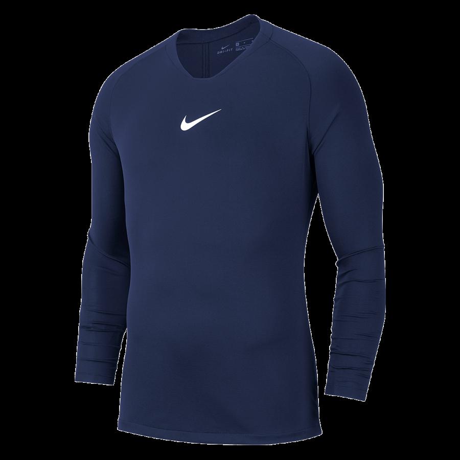 Nike Langarm Funktionsshirt Park First Layer dunkelblau/weiß Bild 2
