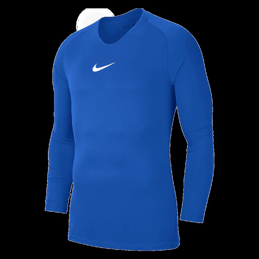 Nike Langarm Funktionsshirt Park First Layer blau/weiß Bild 2
