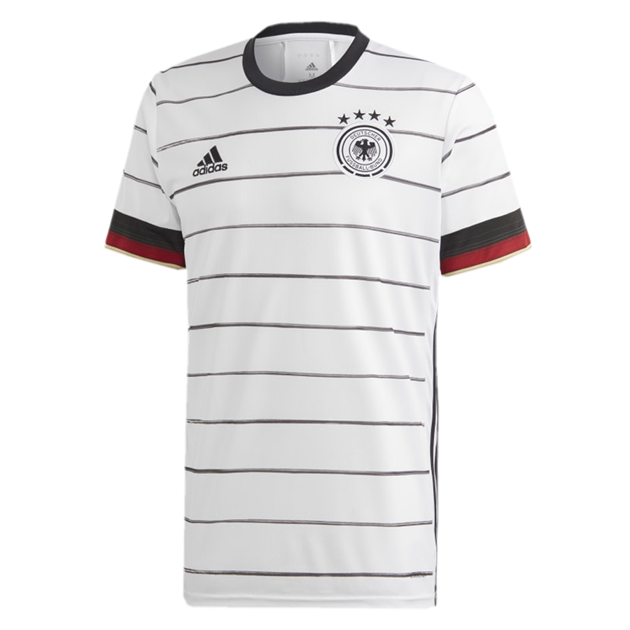 adidas Deutschland Herren Heim Trikot EM 2020 weiß/schwarz Bild 2