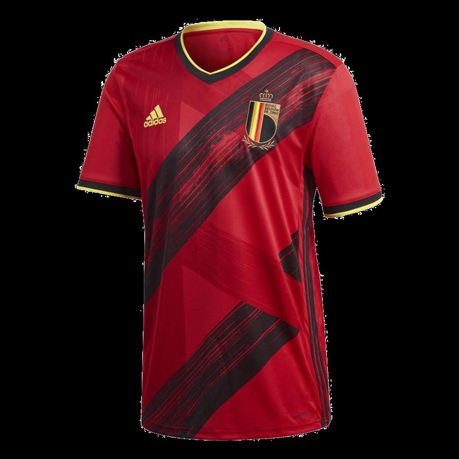adidas Belgien Herren Heim Trikot EM 2020 rot/gelb Bild 2