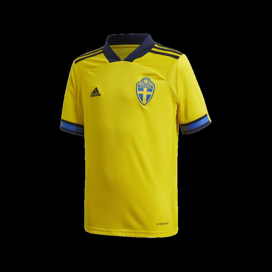 adidas Schweden Kinder Heim Trikot EM 2020 gelb/dunkelblau Bild 2