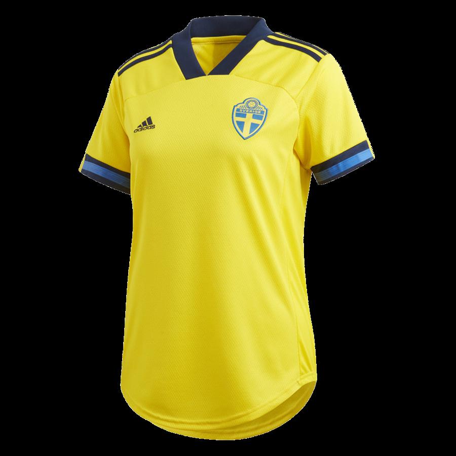 adidas Schweden Damen Heim Trikot EM 2020 gelb/dunkelblau Bild 2