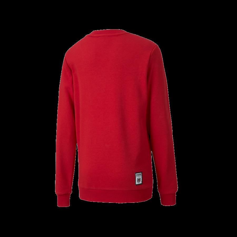 Puma Österreich Kinder Fanpullover Shoe Tag Sweater rot/weiß Bild 3