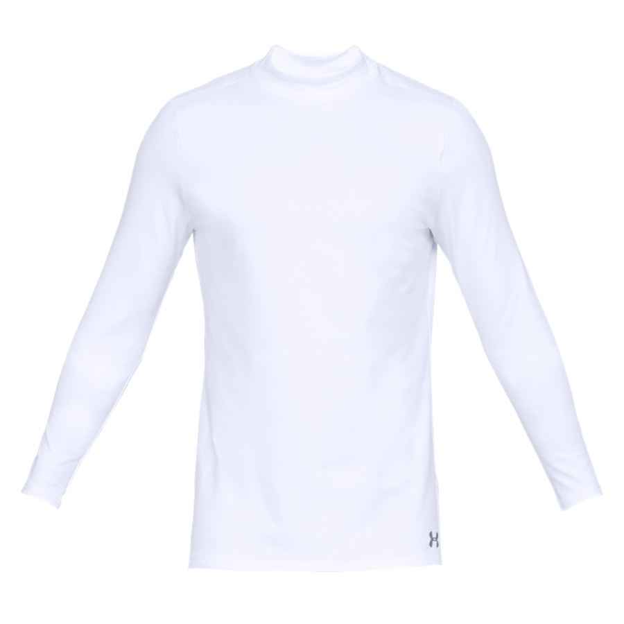 Under Armour Langarm Shirt Fitted ColdGear Mock weiß/grau Bild 2