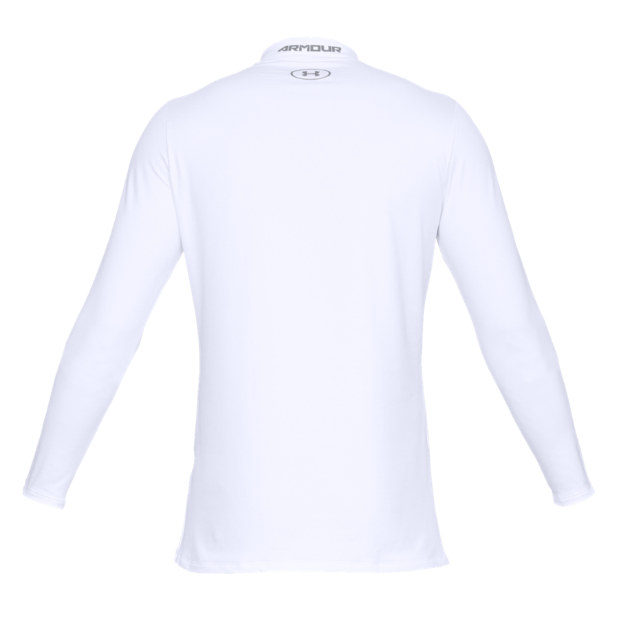 Under Armour Langarm Shirt Fitted ColdGear Mock weiß/grau Bild 3