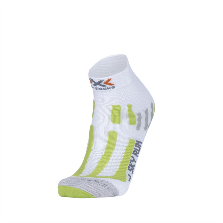 X-Bionic loopsokken X-Socks Sky Run V2.0 wit/groen fluo Afbeelding 2