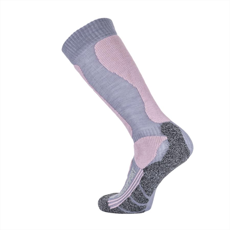 X-Bionic Damen Stutzen X-Socks Ski Comfort Supersoft grau/pink Bild 3