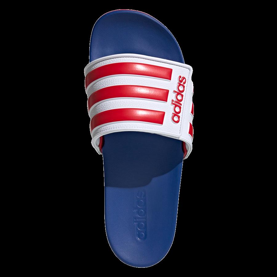 adidas Badesandalen Adilette ADJ blau/rot Bild 4