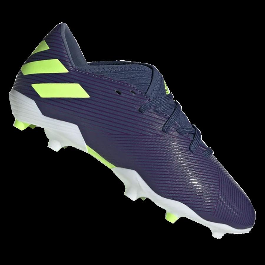 adidas Kinder Fußballschuh Nemeziz Messi 19.3 FG J dunkelblau/grün fluo Bild 2