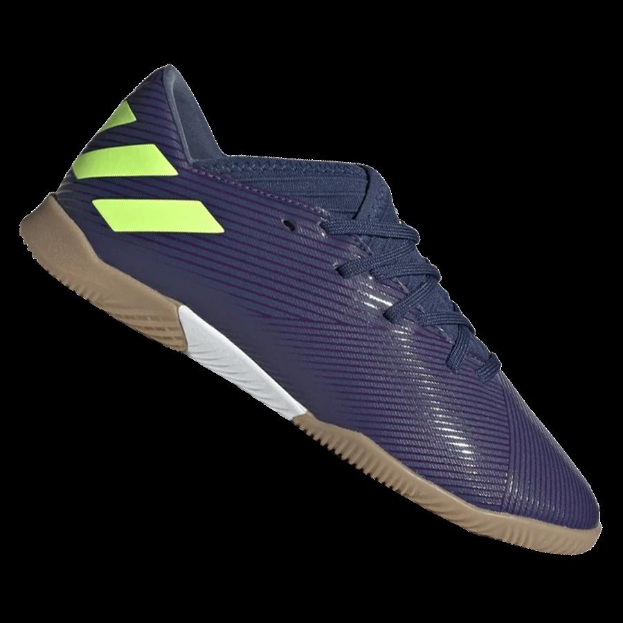 adidas Kinder Hallenschuh Nemeziz Messi 19.3 IN J dunkelblau/grün fluo Bild 2