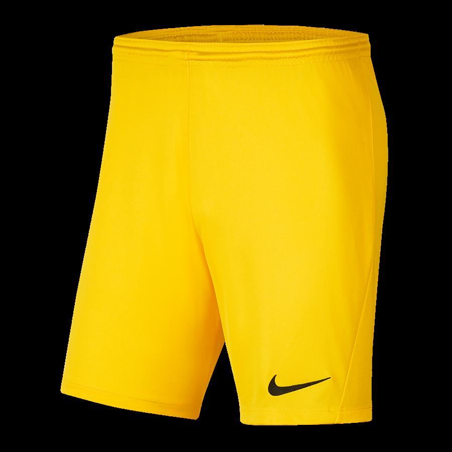 Nike Short Park III ohne Innenslip hellgelb/schwarz Bild 2