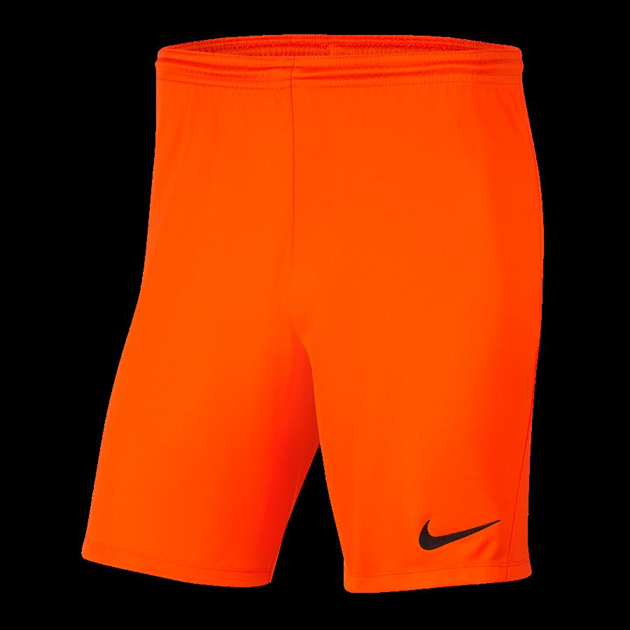 Nike Short Park III ohne Innenslip orange/schwarz Bild 2