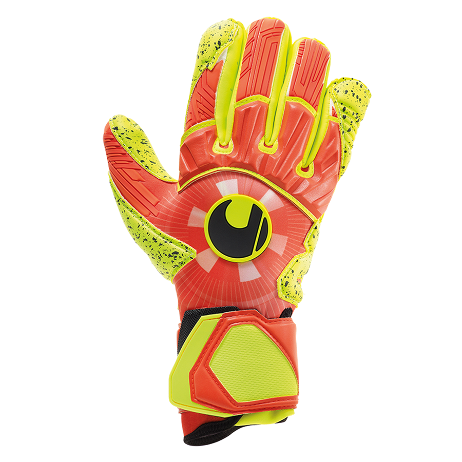 Uhlsport Torwarthandschuhe Dynamic Impulse Supergrip orange/gelb fluo Bild 2