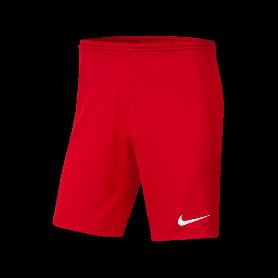 Nike Short Park III ohne Innenslip rot/weiß Bild 2