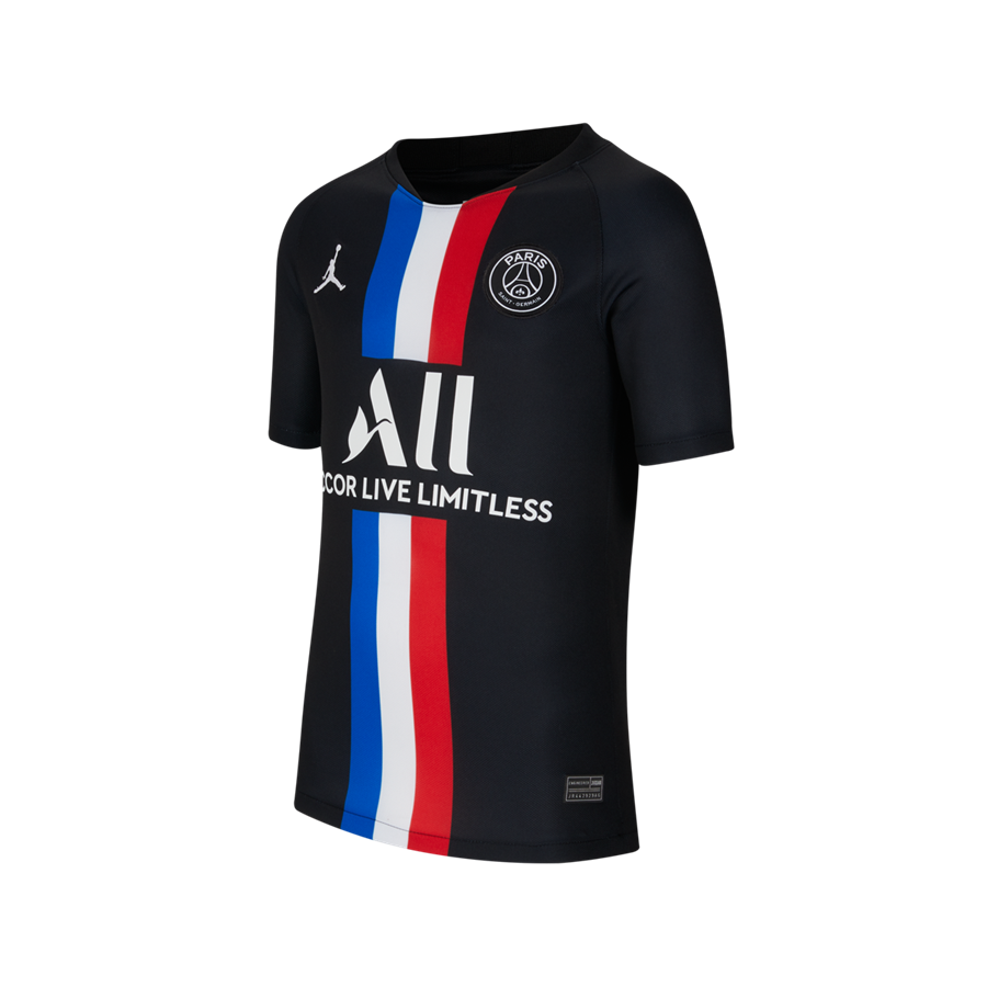 Nike Paris St. Germain Kinder 4th Trikot 2019/20 schwarz/weiß