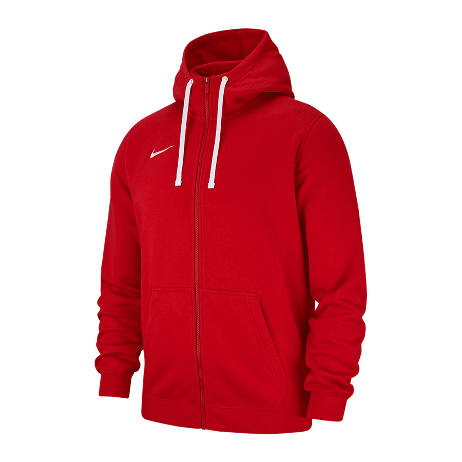 Nike Kapuzenjacke Team Club 19 Fleece Hoody rot/weiß Bild 2