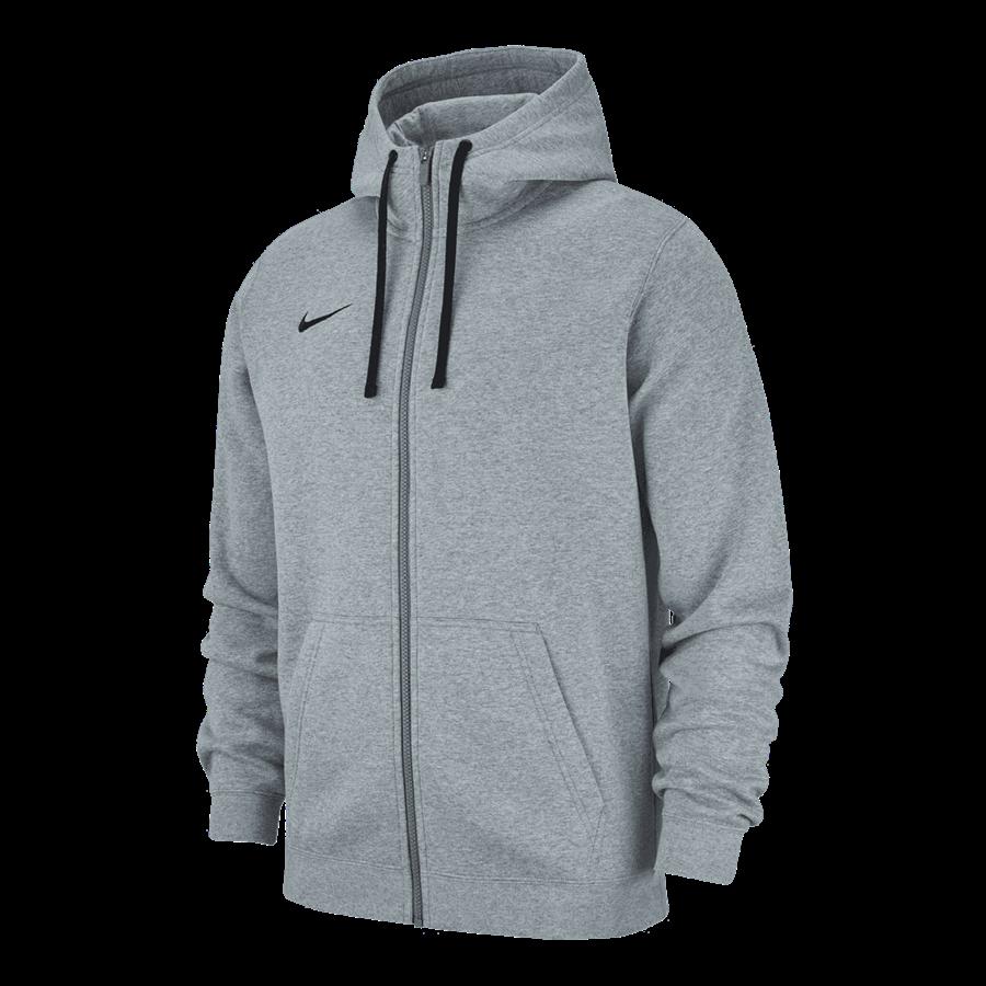 Nike Kapuzenjacke Team Club 19 Fleece Hoody hellgrau/schwarz Bild 2