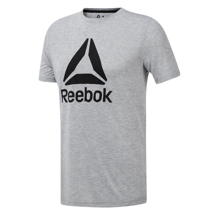 Reebok shirt Workout Ready Supremium 2.0 Tee Graphic grijs/zwart Afbeelding 2