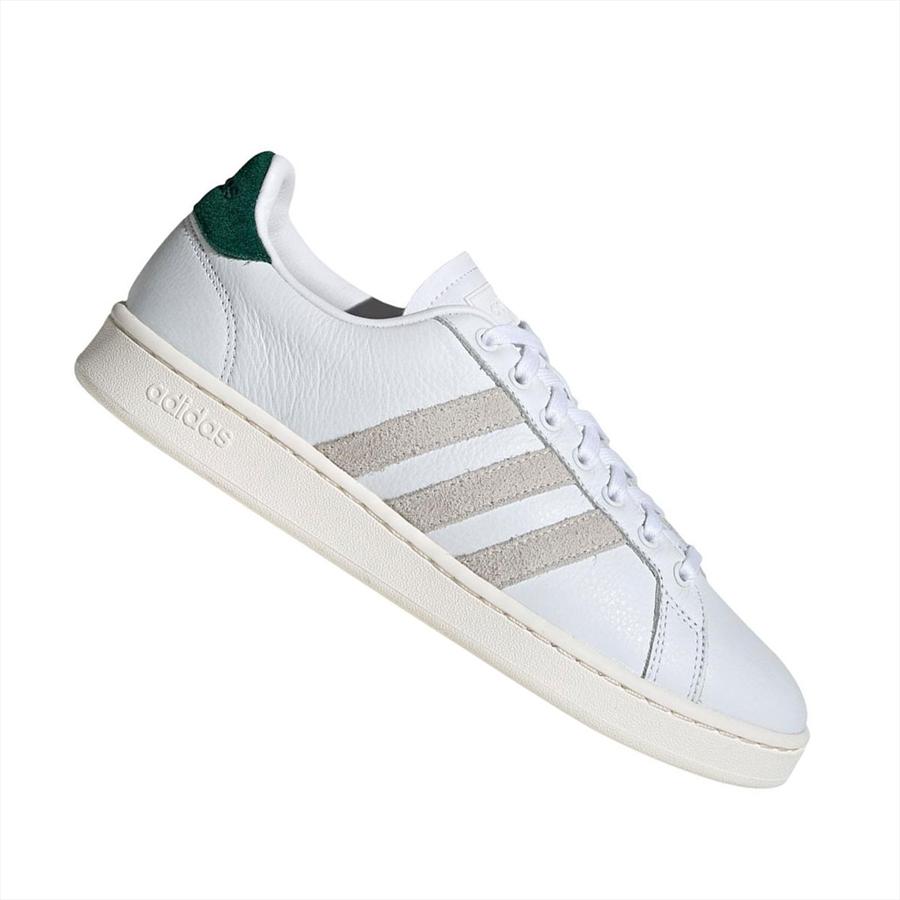 adidas Freizeitschuh Grand Court weiß/dunkelgrün Bild 2