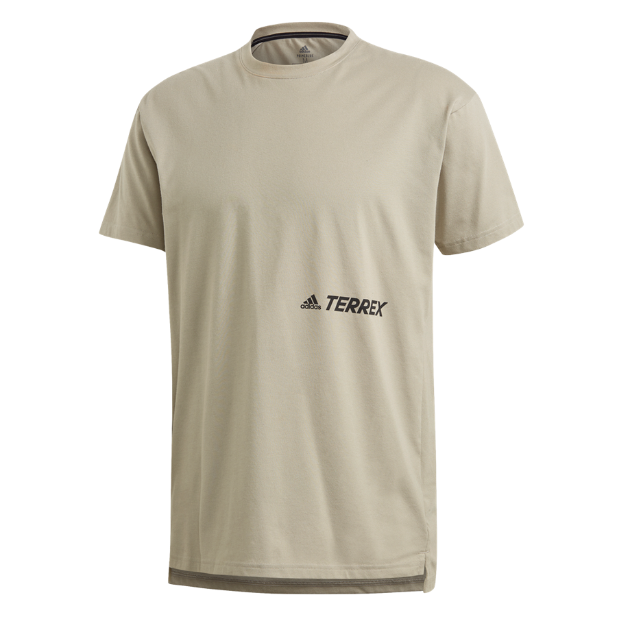 adidas Shirt Terrex Primeblue Logo Tee beige/schwarz Bild 2