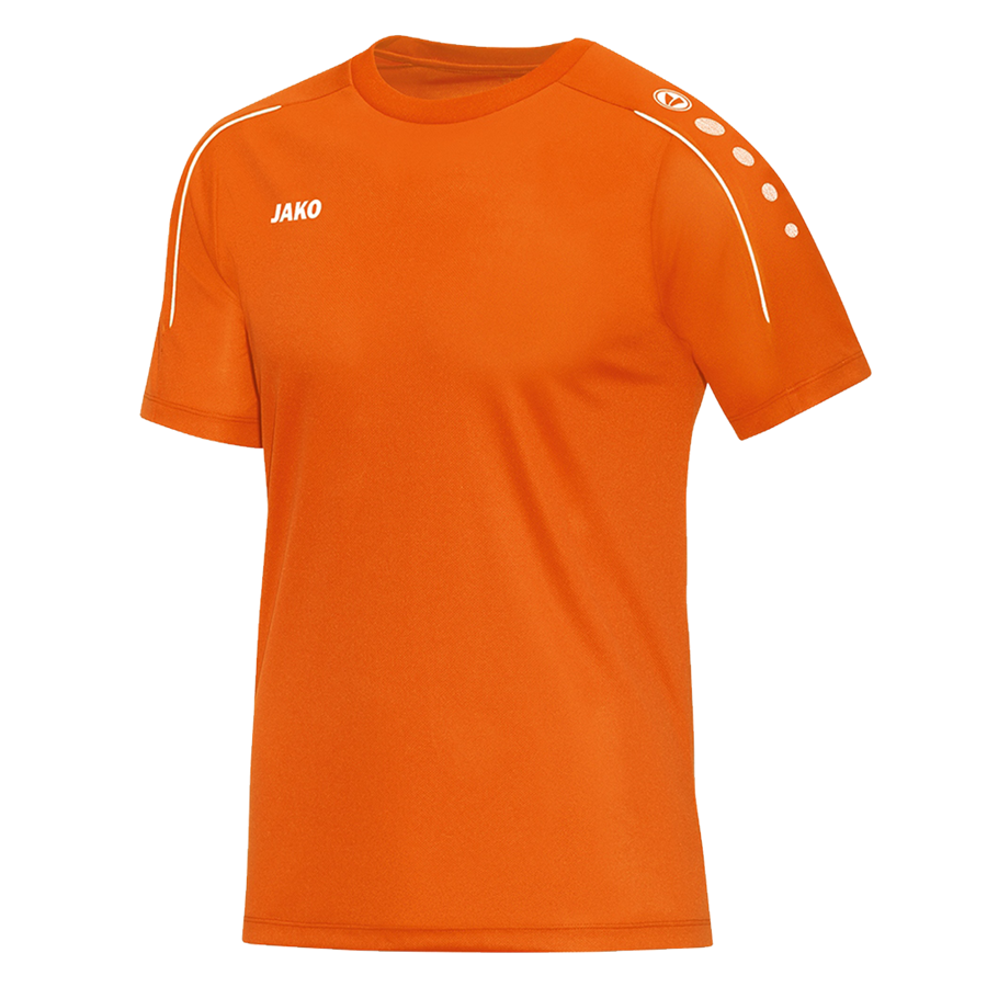 Jako Trainingsshirt Classico orange fluo/weiß Bild 2