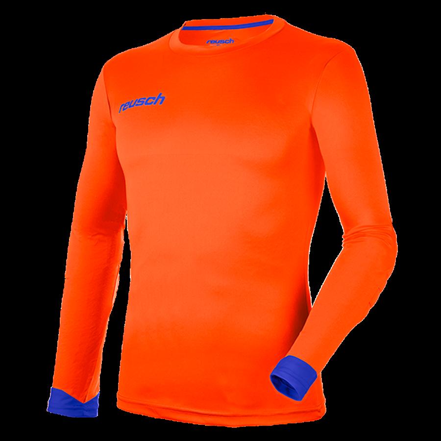Reusch Langarm Torwartshirt Match Longsleeve Padded orange/blau Bild 2