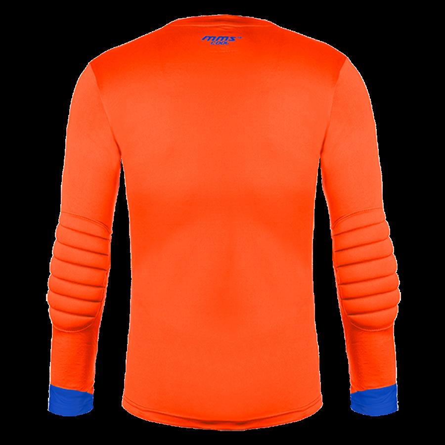 Reusch Langarm Torwartshirt Match Longsleeve Padded orange/blau Bild 3