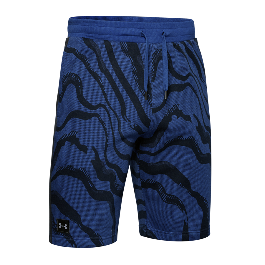 Under Armour Short Speckled Rival Fleece Printed blau/schwarz Bild 2