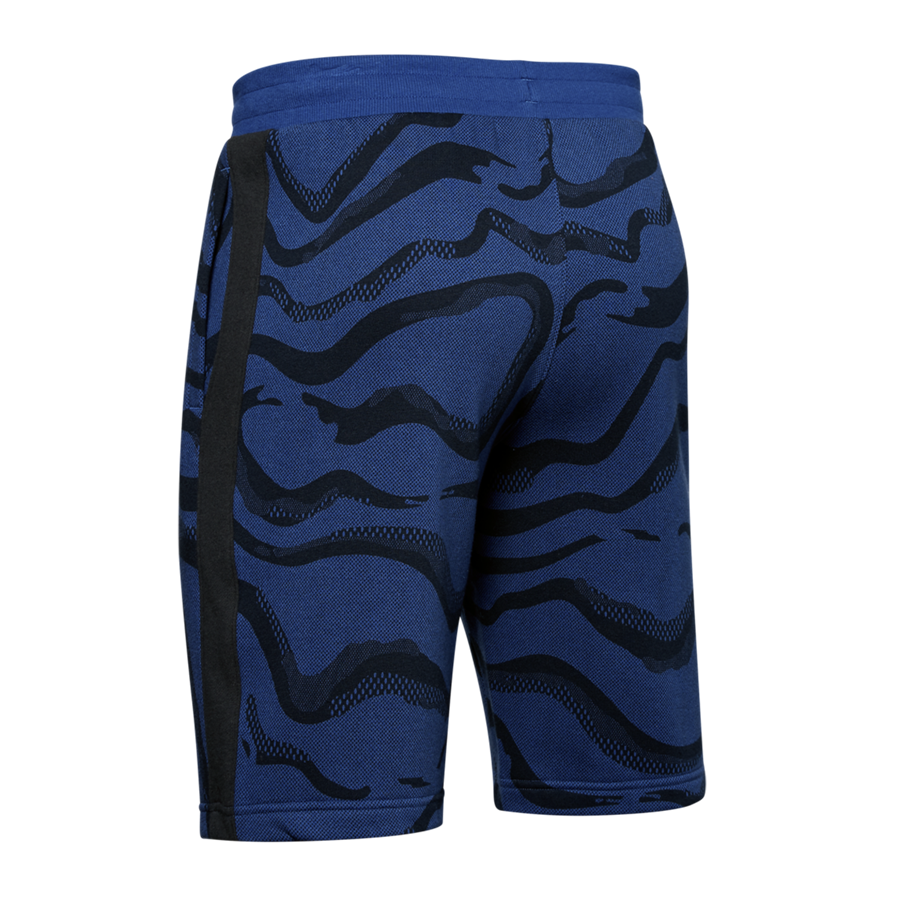 Under Armour Short Speckled Rival Fleece Printed blau/schwarz Bild 3