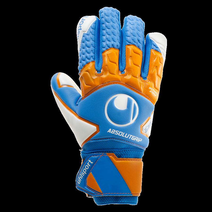 Uhlsport Kinder Torwarthandschuhe Absolutgrip HN PRO Junior blau/orange Bild 2