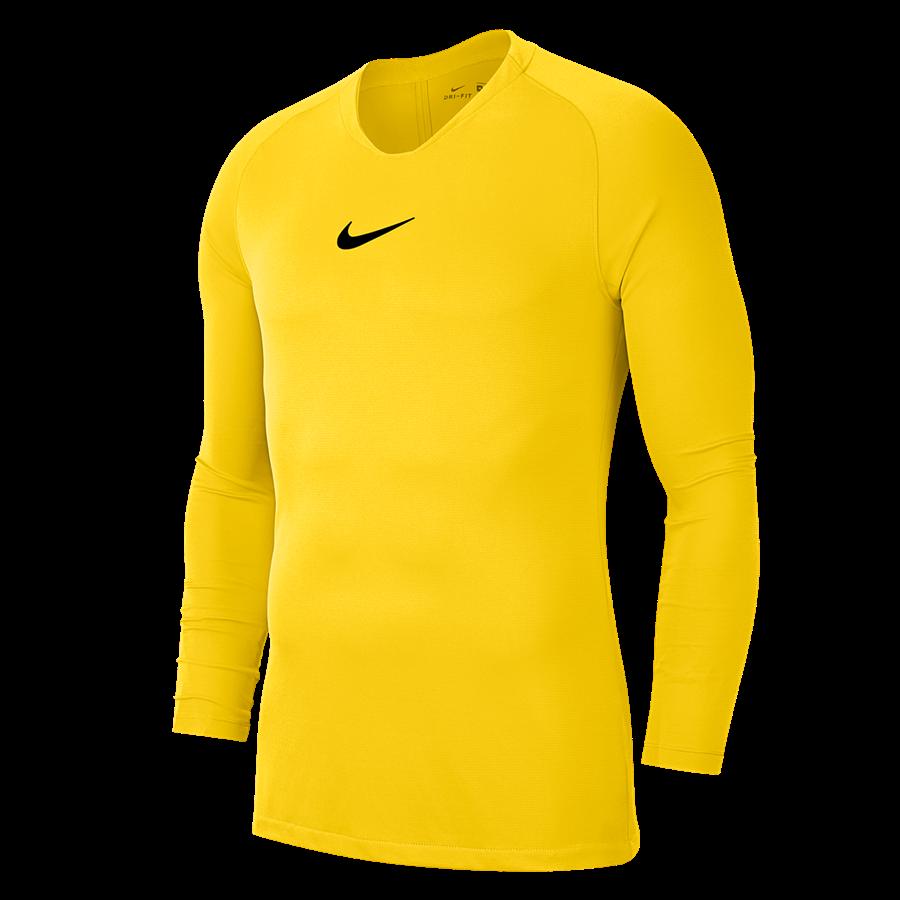 Nike Langarm Funktionsshirt Park First Layer hellgelb/schwarz Bild 2