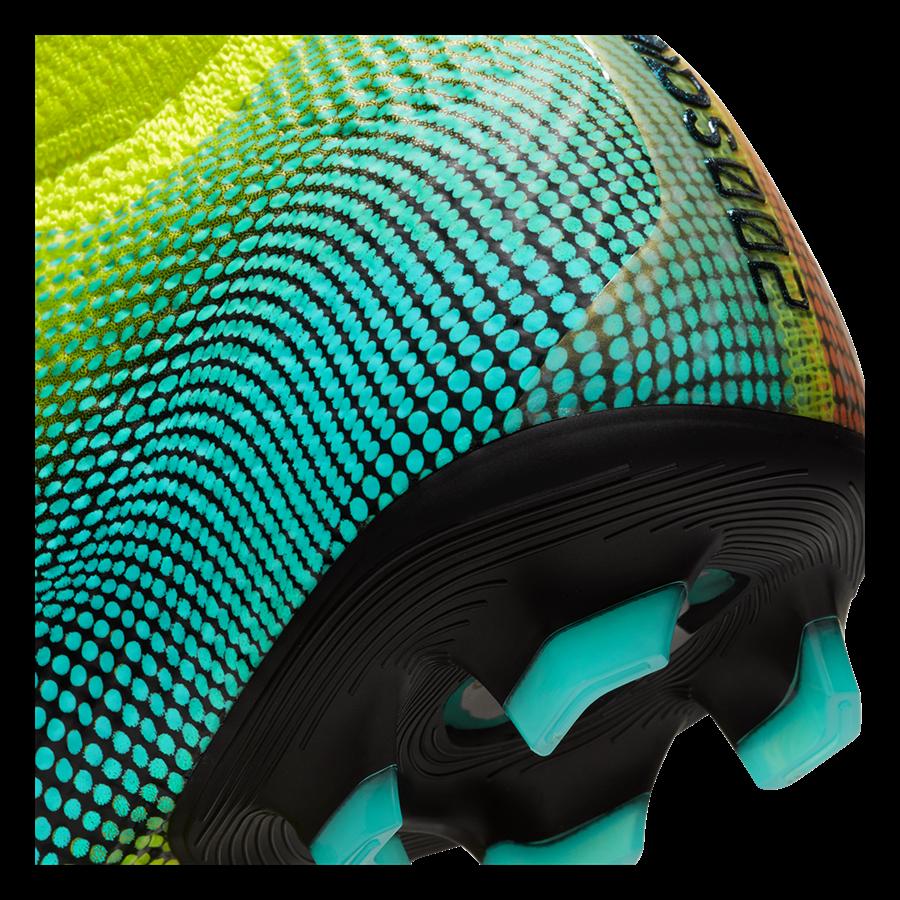 Nike Kinder Fußballschuh Mercurial Superfly VII JR Elite MDS FG gelb fluo/schwarz Bild 7