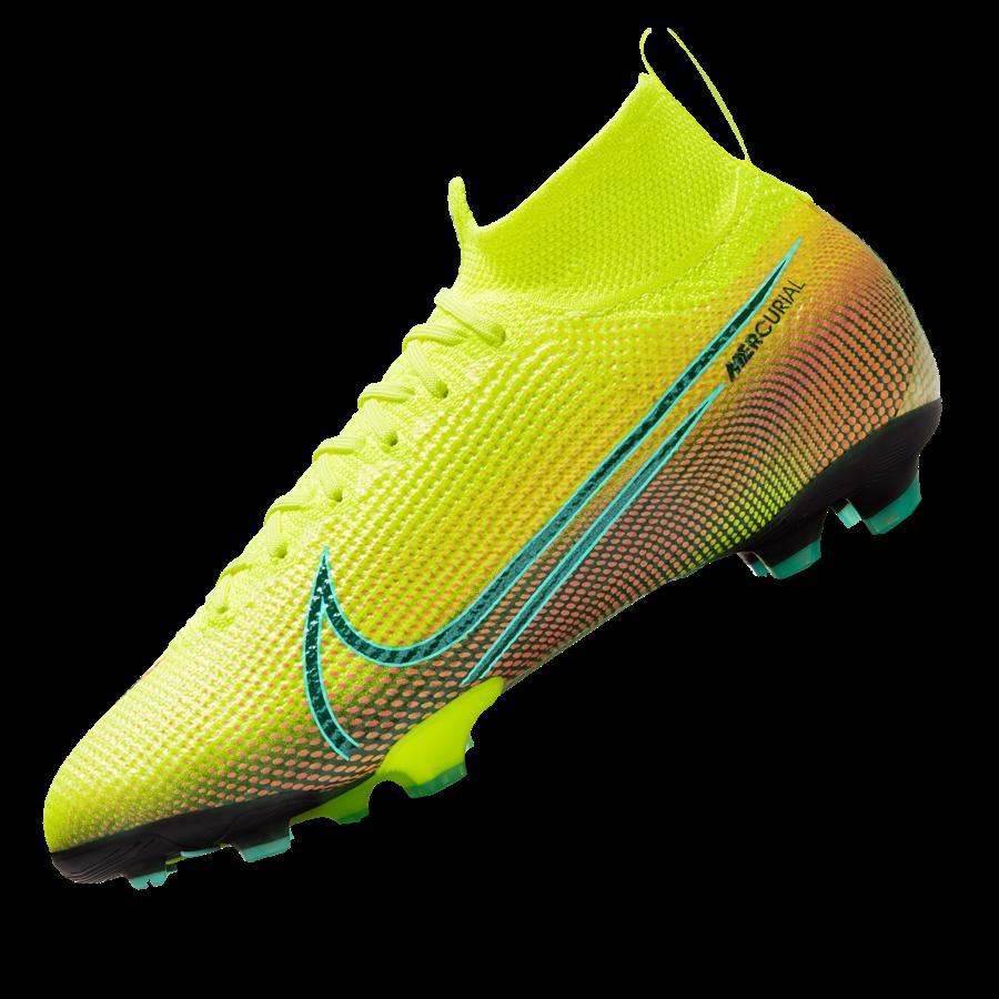 Nike Kinder Fußballschuh Mercurial Superfly VII JR Elite MDS FG gelb fluo/schwarz Bild 3