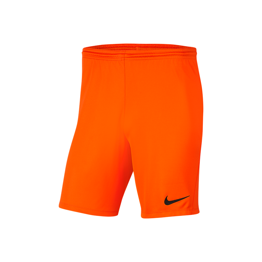 Nike Kinder Short Park III ohne Innenslip orange/schwarz