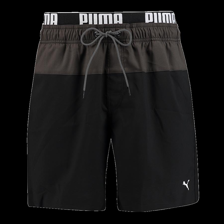 Puma zwembroek Medium Length zwart/grijs Afbeelding 2