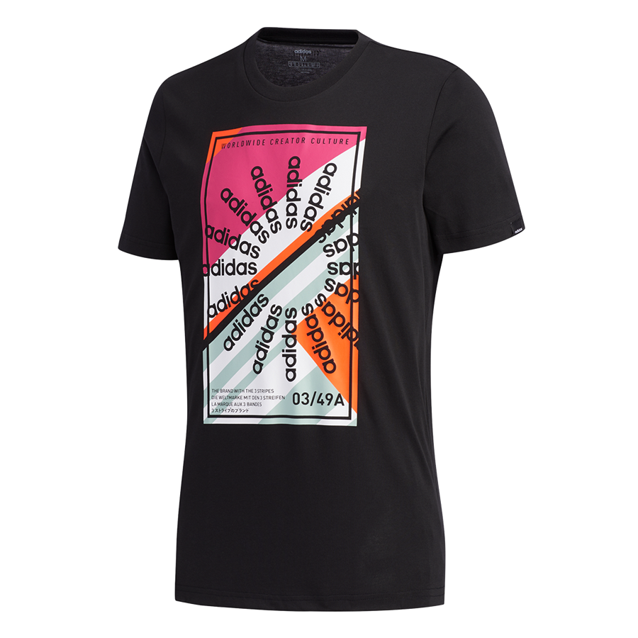 adidas Shirt Clima Creator Color Blocked Culture Tee schwarz/pink