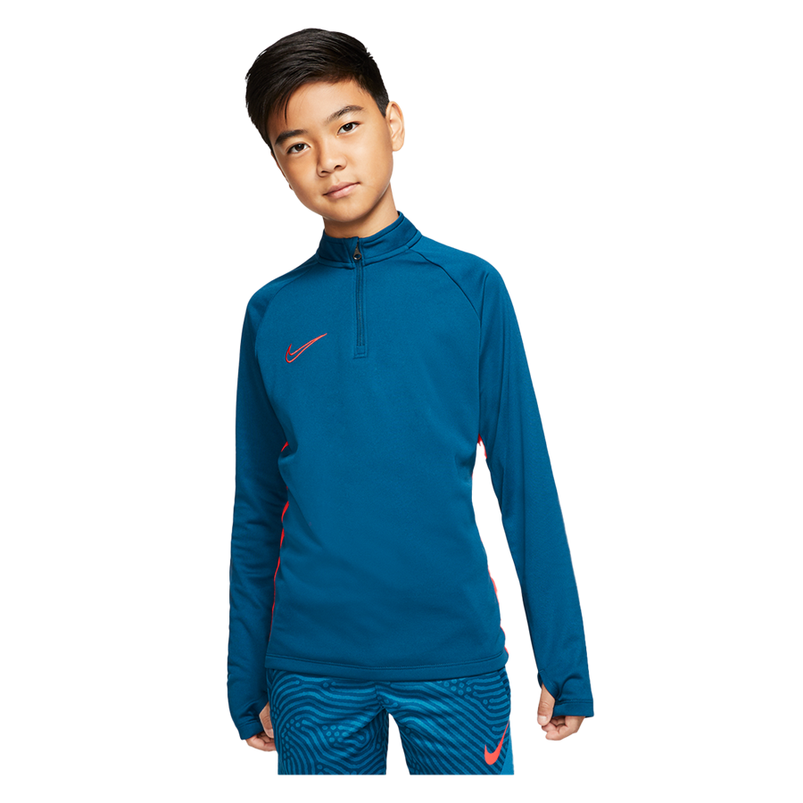 Nike Kinder Trainingsoberteil Academy Drill Top 1/4 Zip petrol/rot Bild 2