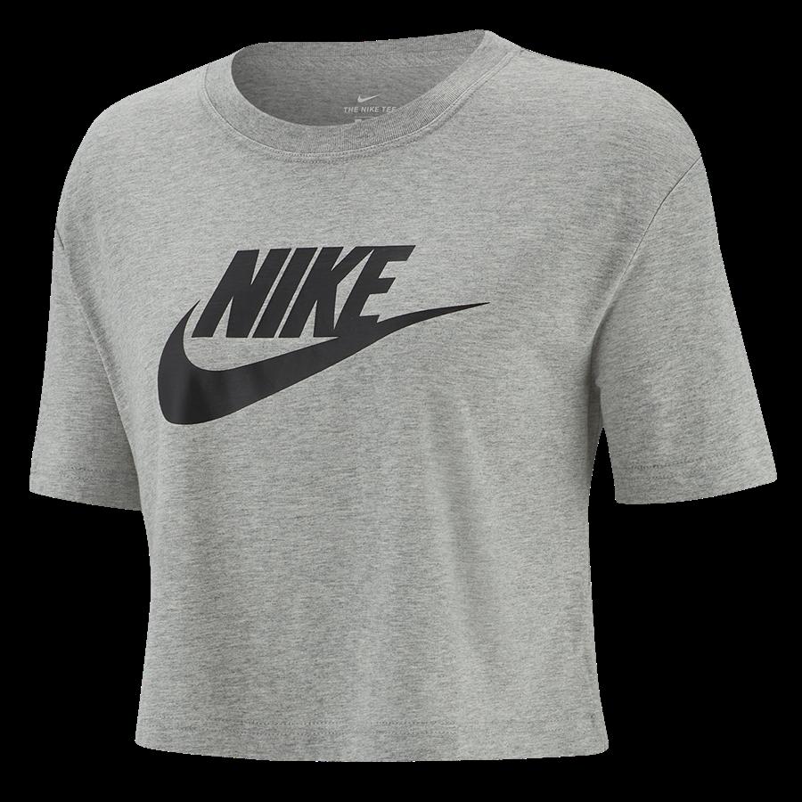Nike Damen Crop Top Sportswear Essential ICN FTR dunkelgrau/schwarz Bild 2