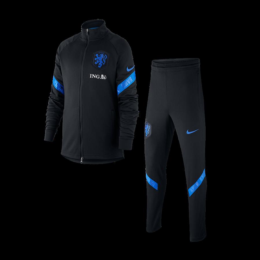 Nike Niederlande Kinder Trainingsanzug Strike Track Suit K schwarz/hellblau Bild 2