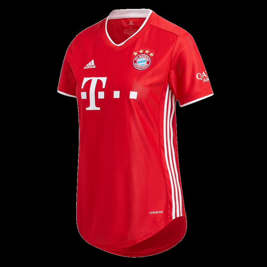 adidas FC Bayern München Damen Heim Trikot 2020/21 rot/weiß Bild 2