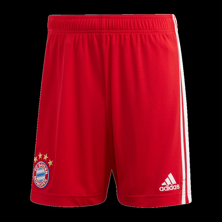 adidas FC Bayern München Herren Heim Short 2020/21 rot/weiß Bild 2