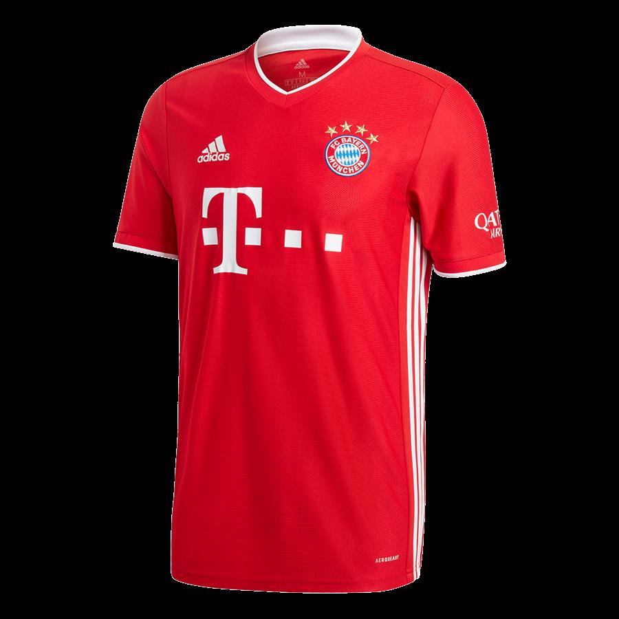 adidas FC Bayern München Herren Heim Trikot 2020/21 rot/weiß Bild 2