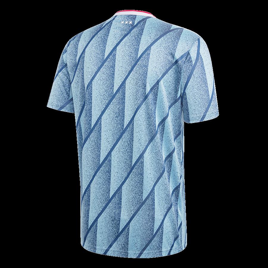 adidas Ajax Amsterdam Herren Auswärts Trikot 2020/21 hellblau/dunkelblau Bild 3