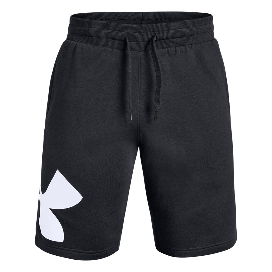 Under Armour Short Rival Fleece Logo schwarz/weiß Bild 2