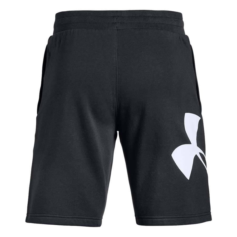 Under Armour Short Rival Fleece Logo schwarz/weiß