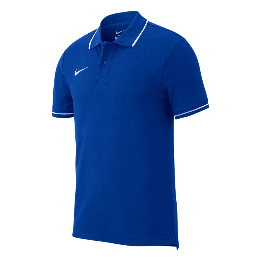Nike Poloshirt Team Club 19 SS blau/weiß Bild 2