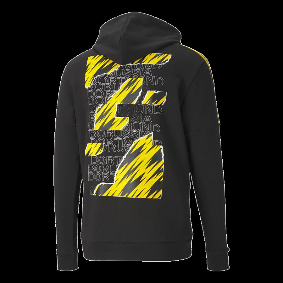 Puma BVB Kapuzenpullover ftblCulture schwarz/gelb Bild 3